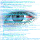 Web Computer Code with Human Eye Abstract Background Stock Images