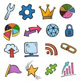 Web and Computer Icon Set royalty free illustration