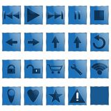 Web Computer Icons. Made in vector Royalty Free Stock Images