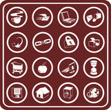 Web and Computing icons Royalty Free Stock Images