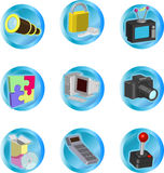 Web and Computing Icons Stock Images