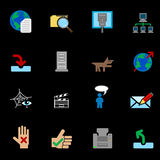 Web and Computing Icons Series Set Royalty Free Stock Image