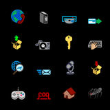 Web and Computing Icons Series Set Royalty Free Stock Photos