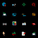 Web and Computing Icons Series Set. A series of web icons set Royalty Free Stock Photos