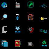 Web and Computing Icons Series Set Royalty Free Stock Images