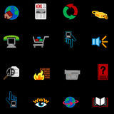 Web and Computing Icons Series Set. A series of web icons set Stock Image