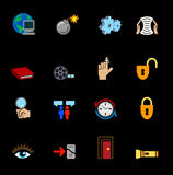 Web and Computing Icons Series Set Stock Images