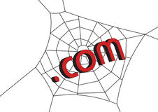Web con .com ilustración del vector