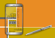 Web concept design Stock Images