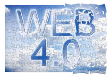WEB 4.0 - concept image in puzzle shape Royalty Free Stock Images