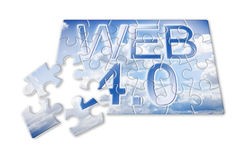 WEB 4.0 - concept image in puzzle shape Royalty Free Stock Photos