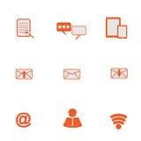 Web, ícones de uma comunicação: grupo do vetor do Internet Imagens de Stock Royalty Free