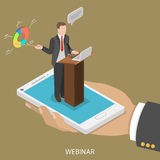 Web conference flat isometric vector concept. Royalty Free Stock Photography