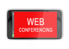 Web Conferencing concept Royalty Free Stock Image