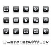 Web and connect icons Stock Photo