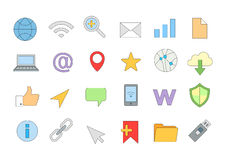 Web connection colorful icons set Stock Photography