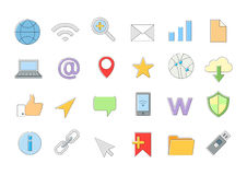 Web connection vector icons set Royalty Free Stock Photo