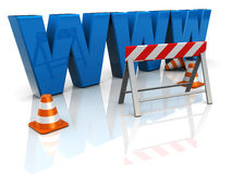 Web construction. 3d illustration of 'www' text construction, internet building concept Stock Image