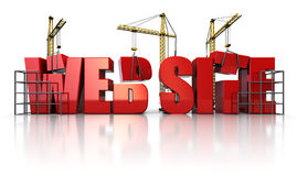 Web construction Royalty Free Stock Photos