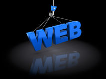 Web construction Royalty Free Stock Image