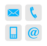 Web contact icons. Stock Image