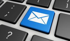 Email Icon Internet Newsletter And Contact Us Concept Stock Photos