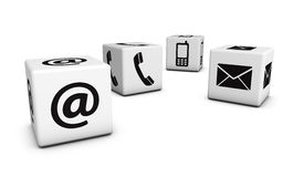 Web Contact Us Icons On Cubes Royalty Free Stock Images