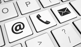 Web Contact Us Icons On Keyboard Royalty Free Stock Photos