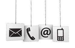 Web Contact Us Icons Tags Royalty Free Stock Images