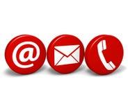 A Web contacta-nos ícones Fotografia de Stock