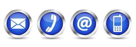 A Web contacta-nos botões Fotografia de Stock