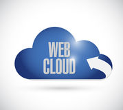 Web content cloud and arrow illustration Stock Image