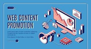 Web content social media promotion web banner vector illustration