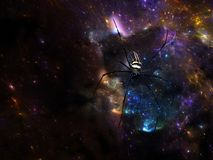 Web cosmico dell'universo Immagini Stock Libere da Diritti