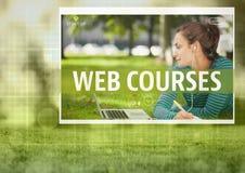 Web courses App Interface. Digital composite of Web courses App Interface royalty free stock photo
