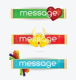 Web creative colored banners set isolated Stock Image