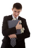 Web-criminal stoles money Stock Photography
