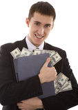 Web-criminal stoles money Stock Image