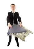 Web-criminal stoles money Royalty Free Stock Images