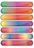 Web d'éléments de bouton Images stock
