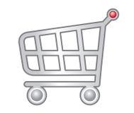 Web d'achats de chariot Images libres de droits