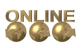 Web d'or de navigation de globes Photographie stock