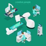 Web 3d s plat diagnostique d'ordinateur médical d'hôpital Photos libres de droits