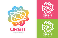 A Web da órbita da tecnologia soa o logotipo Imagens de Stock