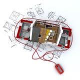 Web da construção Foto de Stock Royalty Free