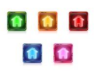 A Web da cor abotoa-se em casa Imagens de Stock Royalty Free