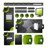 Web, das Element konzipiert Stockbild