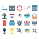 Web Data, Design And Development Vector Isolated Icons stock illustration