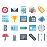 Web Data, Design And Development Vector Isolated Icons vector illustration