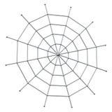 Web de araña 3d Imagenes de archivo